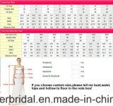3/4 мантий 2017 A111 орденской ленты пинка платья венчания шнурка втулок Bridal