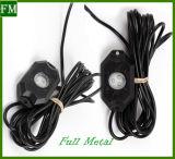 Felsen-Licht-Steuerung des neue 4 Hülse-mini nicht für den Straßenverkehr Auto-LED durch Phone