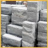 Azulejos de suelo negros/grises superficiales Polished/flameados/antiguos del granito de la vena
