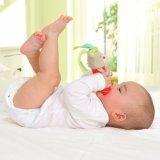 Brinquedo desenvolvente das bonecas infantis macias animais da vara do luxuoso do chocalho da mão