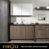 苦脳の最もよい台所が付いている新しく黒いKtichenのキャビネットはTivo-D012hを設計する