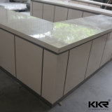 Countertop кварца ледника ванной комнаты белый с шкафом