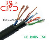Câble d'acoustique de connecteur de câble de transmission de câble de caractéristiques de câble du pouvoir Cable+4pair Utpcat5e/Computer