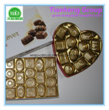 Película rígida da prata do ouro do PVC de Thermoforming para o empacotamento do chocolate