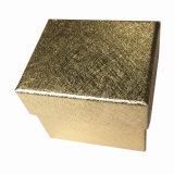 Boîte-cadeau de papier texturisée d'or d'étalage de montre