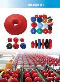 Type roue en caoutchouc solide, roues d'Alll d'unité centrale pour la machine en verre