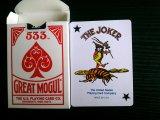 533 grandes tarjetas que juegan del papel de calidad del casino de la tapa del portalámparas gigante