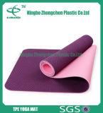 циновка йоги TPE таможни слоев 6mm двойная Non токсическая