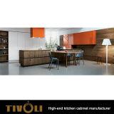 Armadi da cucina di legno con impiallacciatura e le unità bianche Tivo-0237h della cucina della pittura