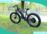 48V 500W 발광 다이오드 표시를 가진 뚱뚱한 타이어 눈 전기 자전거