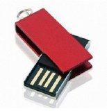 Mecanismo impulsor promocional de encargo del flash del USB del eslabón giratorio del metal