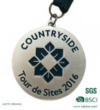 De aangepaste Medaille van de Toekenning van het Nikkel van de Marathon van Singapore Antieke met Sleutelkoord