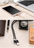 tipo cable de nylon del 1.5m de la carga de los datos del USB del conector de C