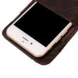 на iPhone 7 гнезда для платы случая телефона PU Samsung S8 кожаный