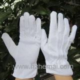 漂白剤の白の100%年の綿ドライバー手袋