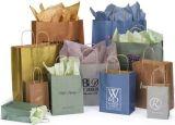 習慣によって印刷されるクラフト紙のショッピング・バッグ
