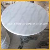 Weißer speisender/Kaffeetisch-Oberseite Umlauf China-Bianco Carrara Guangxi