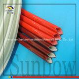 Fibra de vidro revestida do silicone de alta temperatura que Sleeving o vermelho de 6mm