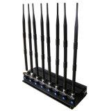 조정가능한 단추를 가진 강력한 2g 3G 셀룰라 전화 WiFi GPS UHF VHF Lojack 신호 방해기