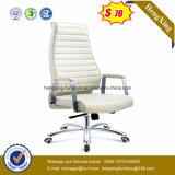 Weißes Leder-hoch Rückseiten-leitende Stellung-Stuhl (HX-5A9044)