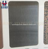 黒いチタニウムのStainlesssの鋼鉄装飾的な版ヘアラインによってブラシをかけられるミラーの振動サンドブラスト