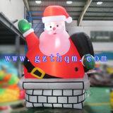 Le père noël géant gonflable pour Noël/décorations extérieures allumées de Noël du père noël