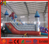 Château plein d'entrain gonflable de la Chine avec la glissière