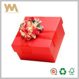 Rectángulo de regalo del embalaje del caramelo con la cinta para la boda