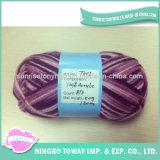 Filato di lana di lavoro a maglia mescolato Merino ad alta resistenza acrilico di 100%