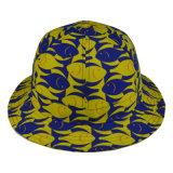 Kundenspezifische Schutzkappen-Blumen-Polyester-Wannen-Hut-Fischen-Schutzkappesun-Schutz-Hüte