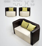 Sofa se reposant de salle d'attente de bureau de salon d'entrée moderne de cuir