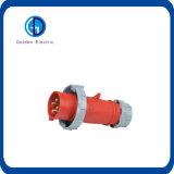 Enchufe de potencia industrial trifásico rojo del IEC 309 63A 5p