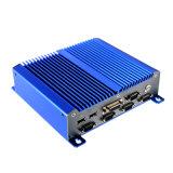 Advantech encaixou computadores industriais com LAN de 2 X, 4*USB portas da automatização do átomo D2550 de Intel do PC do painel de Fanless, portas 6*COM