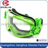 Moderne grüne Rahmen-Sicherheit, die Motocross-Schutzbrille-Schaumgummi-Schlagbiegefestigkeit-Staub-Beweis-Motorrad-Schutzbrillen läuft