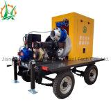 Bomba de água centrífuga do motor Diesel do reboque de Hbp com vácuo ajudado