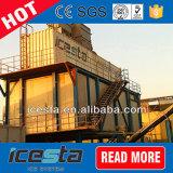 Plantas de gelo do floco para refrigerar concreto com o gelo que entrega o sistema