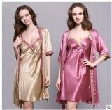 Пижамы Sleepware постельного белья повелительницы Silk просто роскошные Silk