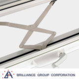 Double Retractable Side Powder Coated Aluminum Awning Window