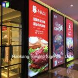 24X48 de Raad van het Menu van de Omlijsting Backlit leiden van de duim voor de Vertoning van de Reclame van het Snelle Voedsel van het Restaurant