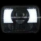 Paare 7 Zoll-50W des Quadrats LED für Jeep-Scheinwerfer-Abwechslung für JeepWrangler Jk Lj Tj den Cherokee Xj LKW nicht für den Straßenverkehr