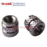 Noix cannelée de garniture intérieure filetée d'acier inoxydable
