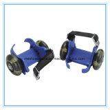 Ce Aprobación de dos ruedas ajustables Flashing patines de patines con ruedas LED PU