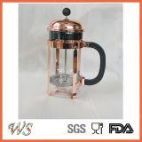 Wschsy003 Pers van de Koffie van de Pot van de Thee van het Koffiezetapparaat van de Kleur van het Koper van de Pers van het Roestvrij staal de Franse