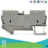 Conector eléctrico del bloque de terminales Jut3-1.5/2-2 Dinrail del resorte