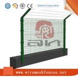 Frontière de sécurité de dépliement incurvée par PVC