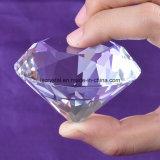 diamante grande del pisapapeles del vidrio cristalino de la talla de 60m m para la decoración