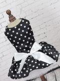 Robe confortable d'animal familier de jupe de crabot de polka de POINT de crabot de robe de vêtements mignons de crabot