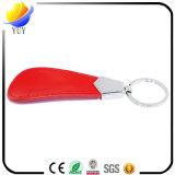 Rotes ovales Form-Leder-Schlüsselkette