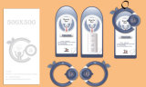 Het professionele Plastic Document van het Etiket van het Kledingstuk van de Douane hangt Markering