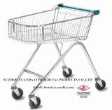 Yuanda Metallspeicher-Supermarkt-Einkaufen-Laufkatze-Karre